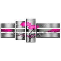 Hexoa - Tableau toile rose - Fabrication française
