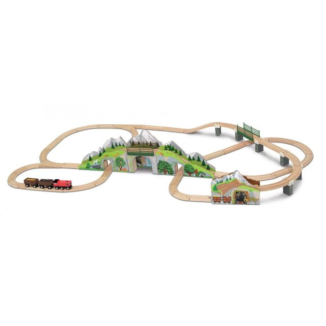 Melissa And Doug Mountain Tunnel Train Set