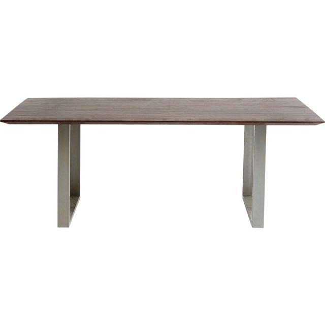 Karedesign Table Symphony noyer argent 180x90cm Kare Design