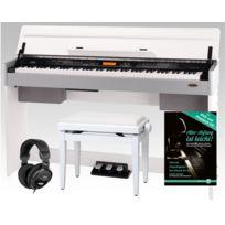 Classic Cantabile - Cp-a 320 Wm piano numérique blanc mat Set, y compris la banquette et le casque