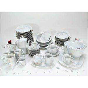 Service de table et caf vaisselle en porcelaine de bavi re 12 personnes 71 pi ces pas cher - Carrefour vaisselle de table ...