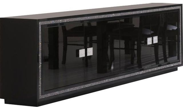 COMFORIUM - Bahut ultra design noir laqué avec décor strass - pas ... ddd32bbd6c89