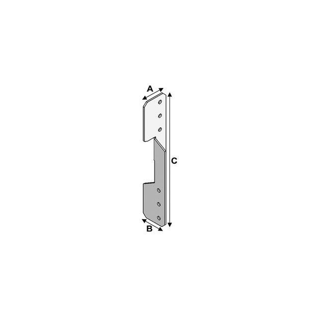 Alsafix ancre de panne universelle gauche égale droite lxlxhxép  35x35x180x20 mm al ap03031820 0146c898a299