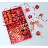 Somoplast - 2 Lots de suspensions rouges - 68 décorations pour sapin de Noël