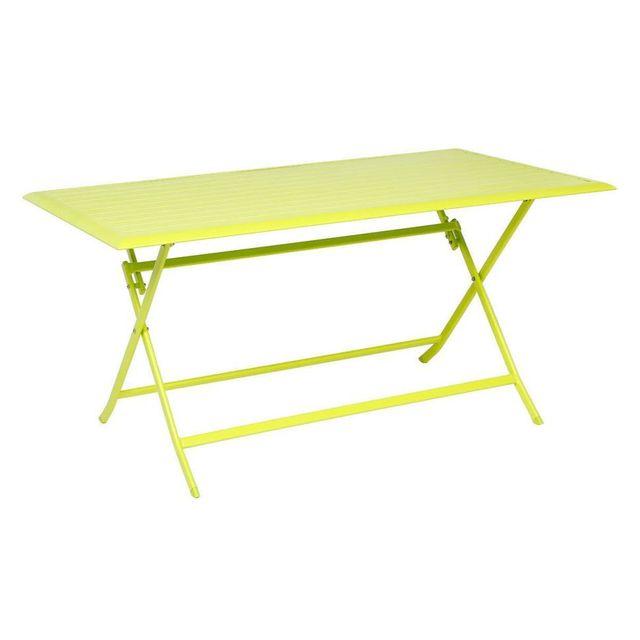 Hespéride Table aluminium Azua 6 places vert granny