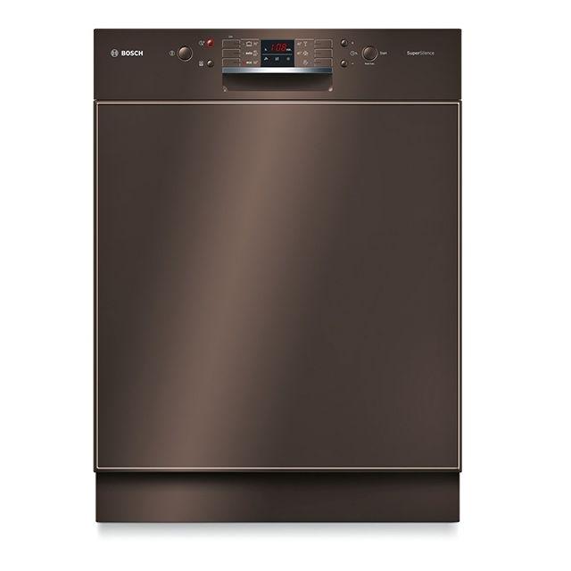 Bosch lave-vaisselle 60cm 13 couverts a++ intégrable avec bandeau apparent brun - smd63n24eu