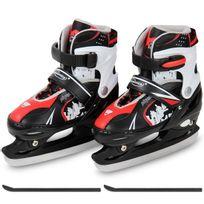 Physionics - Patins de hockey sur glace en rouge dans 2 tailles 34-37