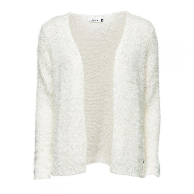 01d9c99715d Only - Cardigan Perfect L S Knit Noos Cloud Dancer - pas cher Achat   Vente  Gilet femme - RueDuCommerce