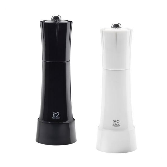 PEUGEOT Duo de moulins poivre et sel Noir etr Blanc 18cm Chess