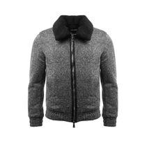 GOV DENIM - Veste en laine homme gris 165022_GY L