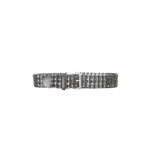 Grossiste-en-ligne - Ceinture noir tressé avec boucle rectangle. Sg-0420 8b40df7166a