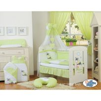 Autre - Lit et parure de lit bébé âne vert ciel de lit mousseline avec top coton 120 60