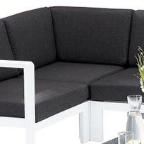 Wilsa - Chaise d angle Orlando - Blanc en aluminium pour salon d angle