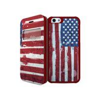 I-paint - Coque folio ''Double Case'' pour iPhone 6 - Drapeau Usa