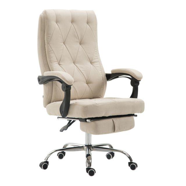 Splendide chaise de bureau, fauteuil de bureau Sofia en tissu