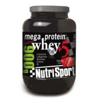 NutriSport - Megaprotein saveur Fraise 900gr, + Shaker en