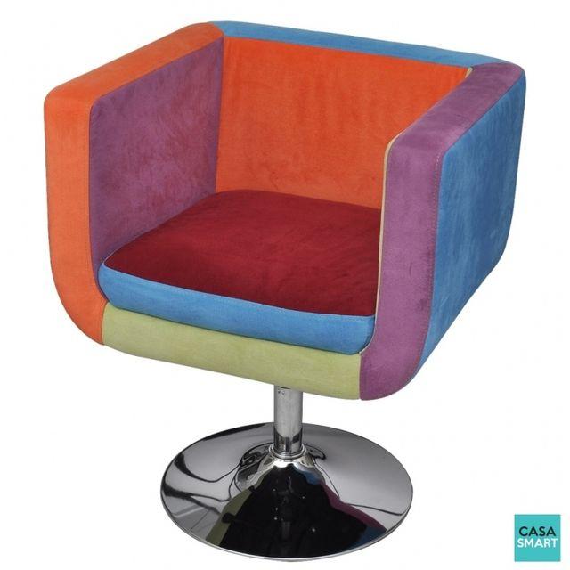 Casasmart Lisa fauteuil muticolore pivotant