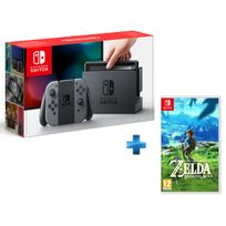 NINTENDO - Console Switch avec une paire de Joy-Con Gris + The Legend of Zelda: Breath of the Wild
