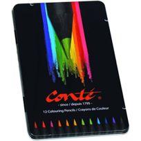 Conte - Crayons De Coloriage BoÎTE MÉTAL De 12