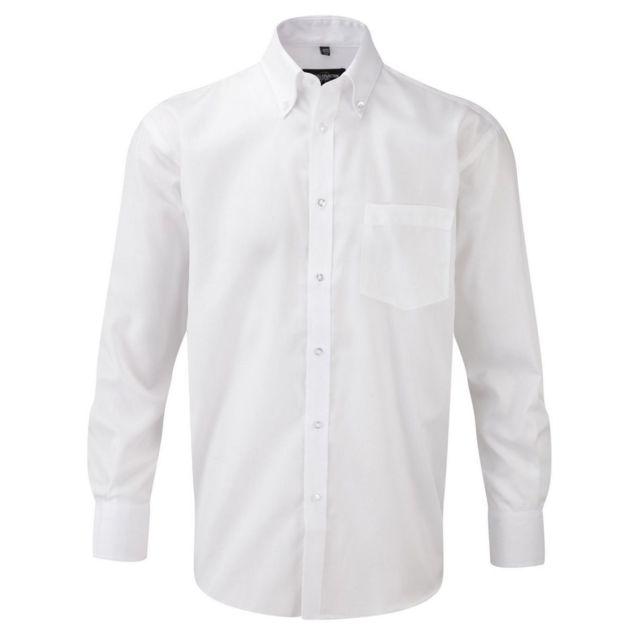 Fashion Cuir Chemise sans repassage Taille Homme - S, Couleur - blanc