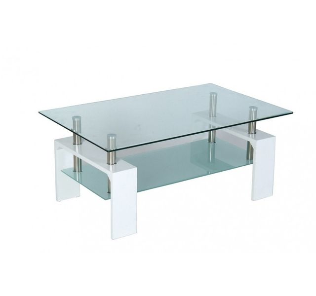 Chloe Design Table Basse Design Ellipse En Bois Laque Blanc Et