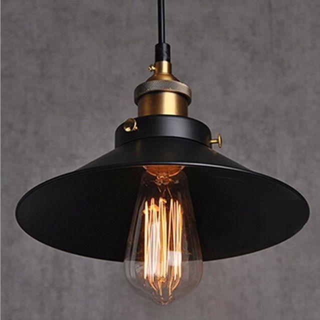 Métal Retro Suspensions Luminaires Industrielle Vintage Plafonniers Lustre Edison Culot E27 Eclairage de Plafond Suspensions Plafonn