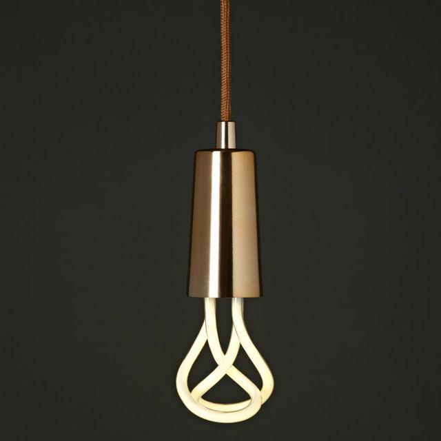 Plumen Suspension Cuivre et Ampoule Baby 001 H9,7cm - Suspension designé par Samuel Wilkinson