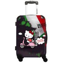 Ikase - Hello Kitty - Around The World Italie pois rouge - Impression Multicouleurs - 50 cm Gris