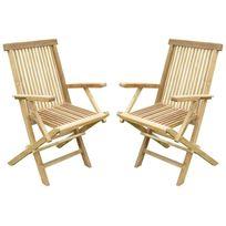 Teck'LINE - Lot de 2 fauteuils pliants JenaË Teck Premium