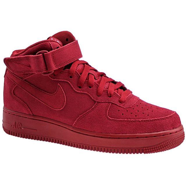 chaussures de séparation a606d a0f80 Nike - Air Force 1 Mid 315123-609 Homme Baskets Rouge - pas ...