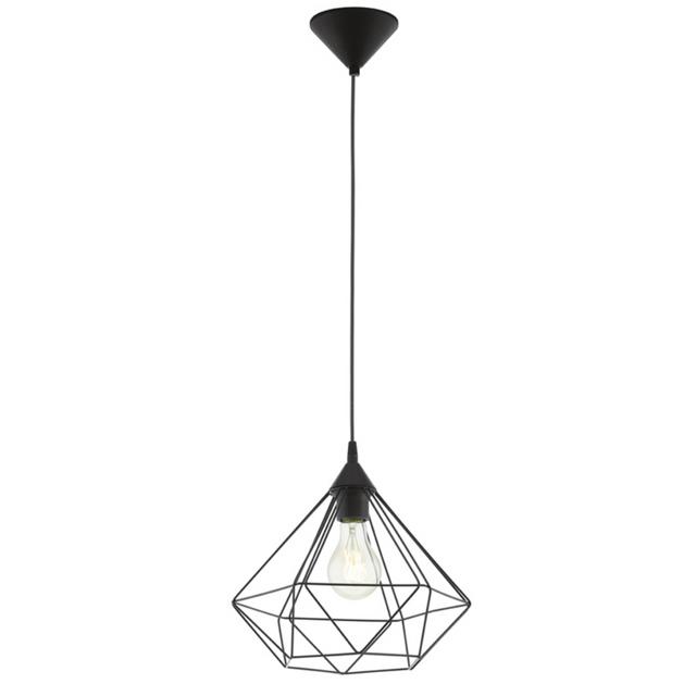 Eglo - Lampe pendante noire Tarbes D32,5 cm