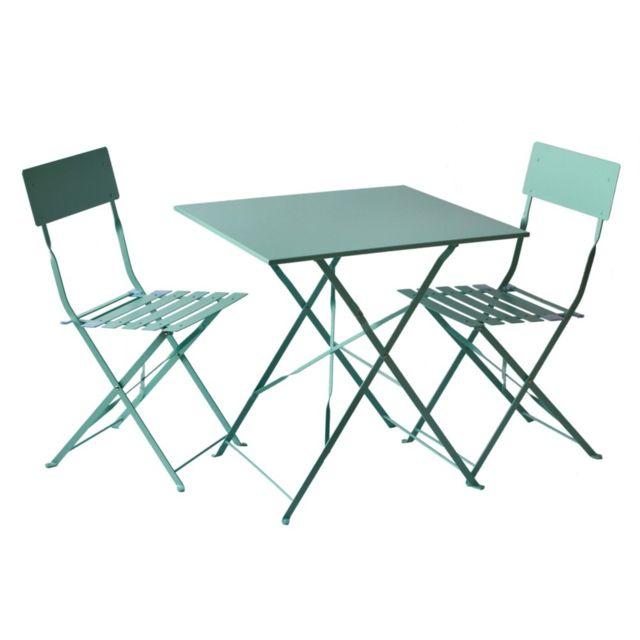 Crepuscule Punching Square Ensemble de 3 pièces Table