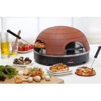 Bestron - Four à pizza de table ! - Dome en terre cuite - Intérieur ou extérieur