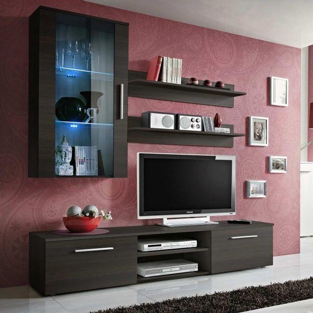 Meuble Tv Wenge  Achat Meuble Tv Wenge Pas Cher  Rue Du Commerce