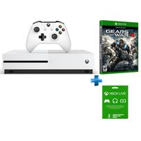 MICROSOFT - Pack Xbox One S 500 Go + GoW 4 + abonnement 3 mois offert