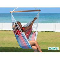 Jobek - Chaise à suspendre en Toile et Bois 110x140cm Sofa