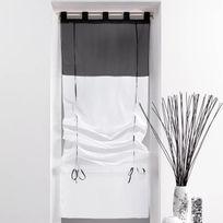 rideau noir blanc achat rideau noir blanc pas cher soldes rueducommerce. Black Bedroom Furniture Sets. Home Design Ideas