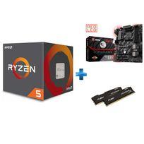 Processeur Ryzen 5 1400, + Wraith Stealth 65W cooler + Carte mère B350 TOMAHAWK - Ryzen - Socket AM4 + HyperX Fury 16 Go 2 x 8 Go DDR4 2133 MHz Cas 14