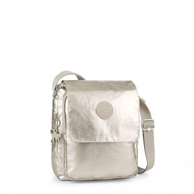 Kipling Sac épaule Netta Bp 10 litres Silver beige N pas