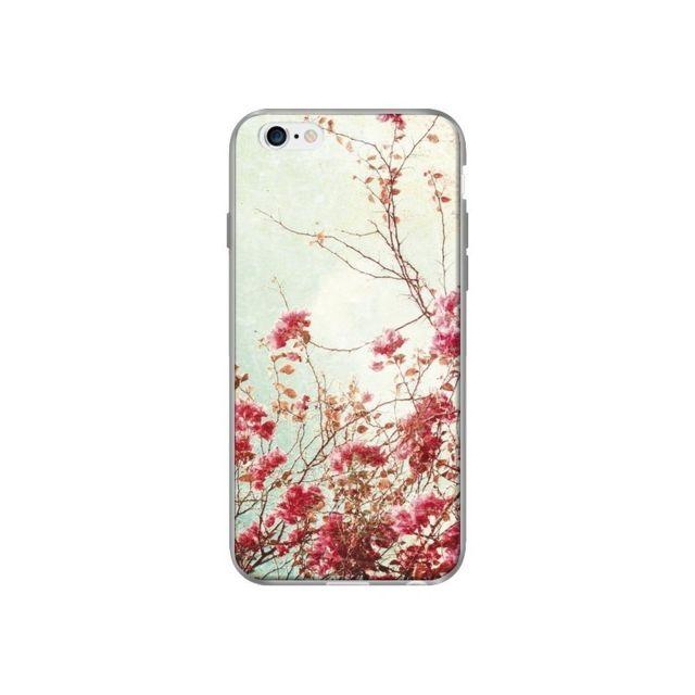 coque iphone 6 et 6s fleur vintage rose