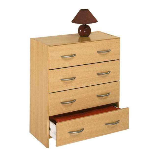 demeyere commode 4 tiroirs reine hetre pas cher achat vente commode rueducommerce. Black Bedroom Furniture Sets. Home Design Ideas