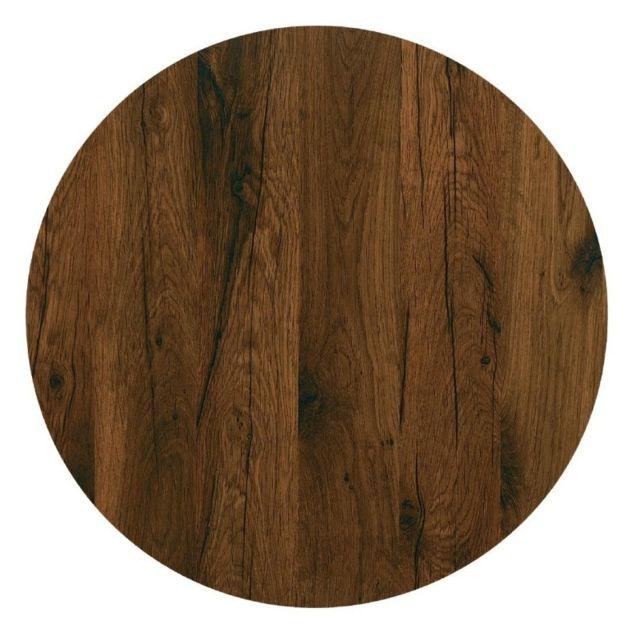 werzalit plus plateau de table rond 600mm ch ne antique. Black Bedroom Furniture Sets. Home Design Ideas