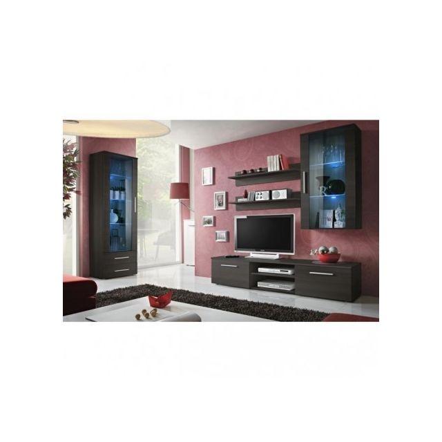 Price Factory - Meuble Tv Galino F design, coloris wengé ...