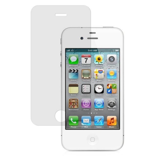 Cabling - Ecran pour Apple iPhone 4 / 4S en verre trempé Crystal Clear