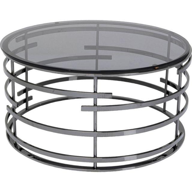 Karedesign Table basse Saturn noire 80cm Kare Design