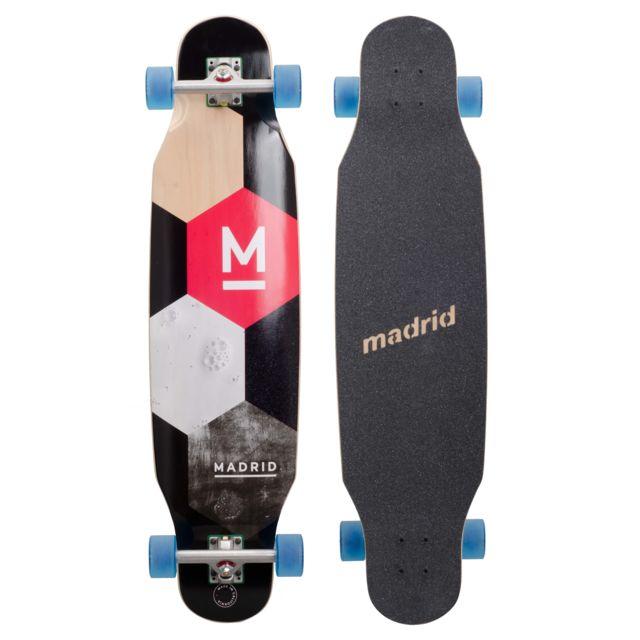 Leopboard Longboard Noir Madrid