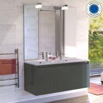 Creazur - Meuble salle de bain double vasque Proline 120 - Gris anthracite
