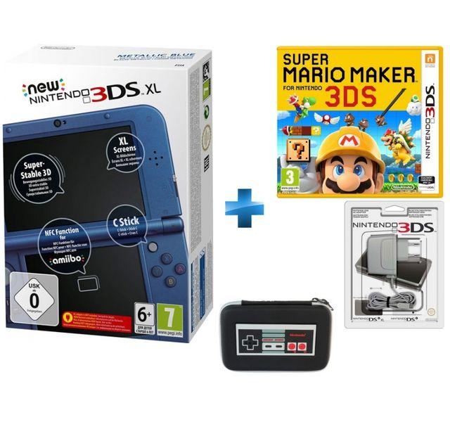 Nintendo New 3ds Xl Bleu Metallique Super Mario Maker Bloc Alimentation 3ds Dsi Xl Et Dsi New 3ds Xl Retro Nes Sacoche Rigide Pas Cher Achat Vente 3ds Rueducommerce