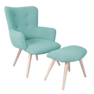 inwood fauteuil avec repose pieds stockholm pas cher achat vente fauteuils rueducommerce. Black Bedroom Furniture Sets. Home Design Ideas