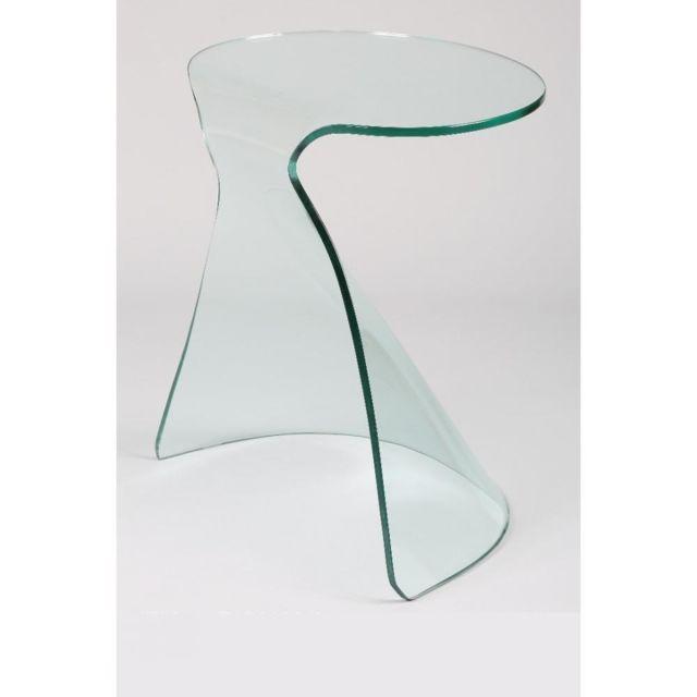 bout de canape en verre